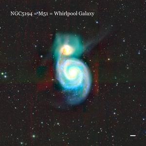 NGC5194 = M51 = Whirlpool Galaxy