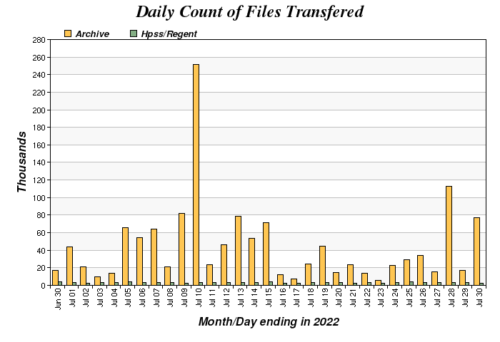 Daily I/O Count